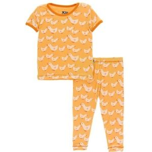 Kickee Pants Set Fuzzy Bee Ducks 6-12M